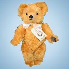 Vintage Mohair English Teddy Bear For HARRODS Merrythought W/ String Tag & Paw Label