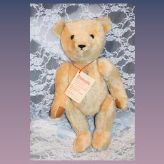 Vintage Althans Teddy Bear Signed Numbered String Tag Chest Tag Jointed German