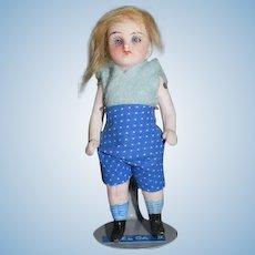 Antique Miniature All Bisque Doll Dollhouse