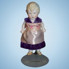 Antique Doll German All Bisque Jointed Miniature Dollhouse