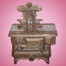Antique Doll Miniature Salesman Sample Child Dollhouse Royal Ornate Cast Iron