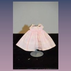 Old Doll Hand Made Petite Dress Pink W/ Lace