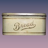 Old Doll Miniature Tin Bread Box Hinged Sweet Dollhouse