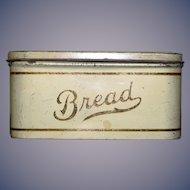 Old Doll Miniature Tin Bread Box Hinged Sweet Dollhouse