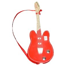 Vintage Sasha Doll Wood Guitar Signed SASHA Sweet