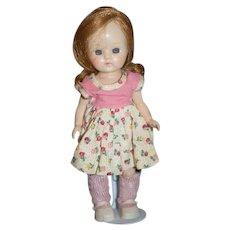 Vintage Doll Hard Plastic Walker Doll Muffie Ginger Adorable