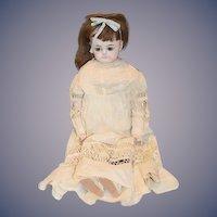Antique Doll Papier Mache Bulging Glass Eyes Wonderful Face Antique Clothes