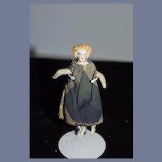Antique Doll Miniature China Head TINY Dollhouse