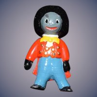 Vintage Doll Miniature Metal Golliwog Dollhouse