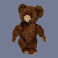 Old Teddy Bear Brown Bear Mohair Jointed Sweet