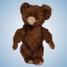 Old Teddy Bear Brown Bear Mohair Jointed Sweet
