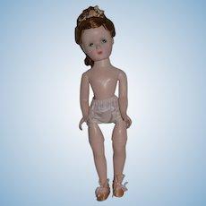 "Vintage Doll Madame Alexander Doll Hard Plastic Jointed Knees Fab Hair 14"" Tall"