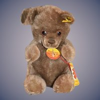 Wonderful Teddy Bear Manschli Steiff Button Chest Tag & String Tag