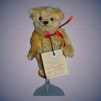 Vintage Artist BOCS TEGANAU Miniature Teddy Bear Jointed Artist Sweet From Wales