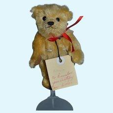 Vintage Artist BOCS TEGANAU Miniature Teddy Bear Jointed Artist Sweet From Wales