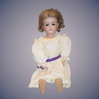 "Antique Doll Bisque Simon & Halbig JUTTA 21"" Tall Sweet 1349"