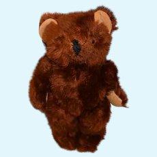 Old Teddy Bear Mohair Jointed Velvet Paws So Different