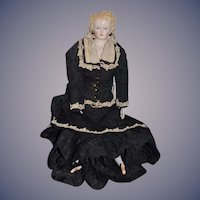 Wonderful Artist Doll W/ Walker Stamped Cloth Body Gorgeous Clothes