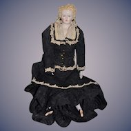 Wonderful Artist Doll W/ Walker Stamped Cloth Body Gorgeous Clothes