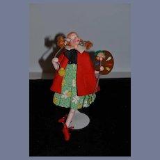 Vintage Doll Klumpe Artist Doll Girl Painting Cloth Doll