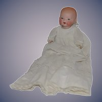 Antique Bisque Doll GB Solid Dome Glass Eye Baby Wobbly Tongue