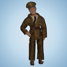 Old Doll General MacArthur In Original Clothes Composition