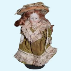 Antique Doll All Bisque Jointed Miniature Doll Wonderful Clothes