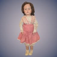 Antique Doll Schoenhut Wood Carved Jointed Large Miss Dolly Sweetly Dressed