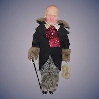Vintage W.C. Fields Effanbee Doll W/ String Tag