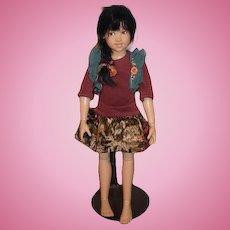 Sweet Artist Doll Kish & Co. Helen Kish Signed on Back Jointed Adorable