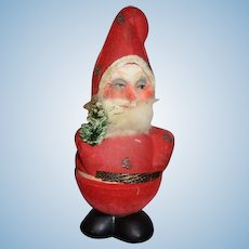 Old Doll Papier Mache Candy Container Santa Claus