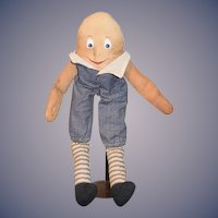 Vintage Doll Humpty Dumpty Cloth Doll Painted Features