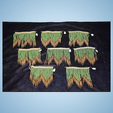 Old Wonderful Doll Miniature Dollhouse Beaded Curtains FAB Window Toppers
