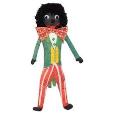 Artist Doll Golliwog Black Cloth Doll Googly Eyes