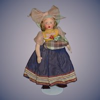 Wonderful Italian Felt Cloth Doll Character