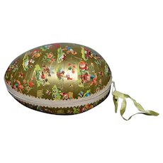 Large Old Papier Mache Egg For Doll Or Child Easter Egg Candy Container