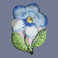 Old Trinket Box Flower Shaped Porcelain Vanity Item Lided