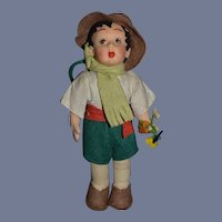Old Cloth Doll Felt Doll Character Sweet
