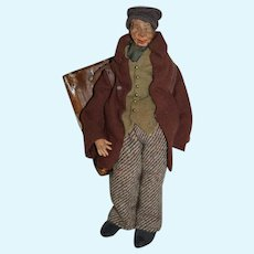 Old Wood and Cloth Peddler Doll Character Unusual
