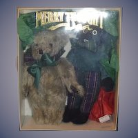 Vintage MerryThought Teddy Bear & Golliwog Boxed Set English