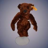 Wonderful Vintage Steiff Teddy Bear 029295 Reddish Brown Bear Miniature Jointed