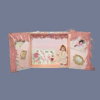 Antique Doll Miniature All Bisque W/ Artist Trousseau Sweet Dollhouse French Market