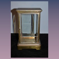 Antique Doll Miniature Cabinet Vitrine Doll Show Case Brass Glass Beveled Fashion Doll Display