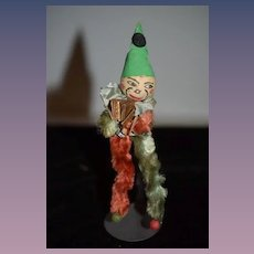 Old Pipe Cleaner Doll Jester Papier Mache Head