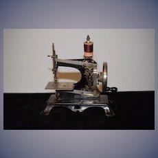 Antique Doll Child Miniature Tin German Sewing Machine Works! Ornate