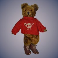 Old Teddy Bear Jointed & Dressed