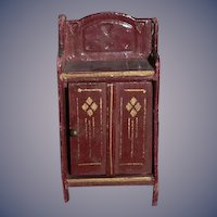 Old Doll Miniature Gottschalk Cabinet Dollhouse
