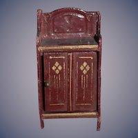 Old Doll Miniature Gottschalk Cabinet Dollhouse
