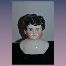 Antique China Head Doll Large Rare Side Part Sweet Boy