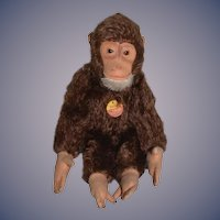 Old Steiff Monkey Jocko Mohair Jointed Chest Tag